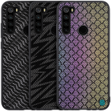 For Xiaomi Redmi Note 8 Case NILLKIN Luxury Luster Twinkle Shield Woven Polyester + PU Leather Hard Back Protective Case