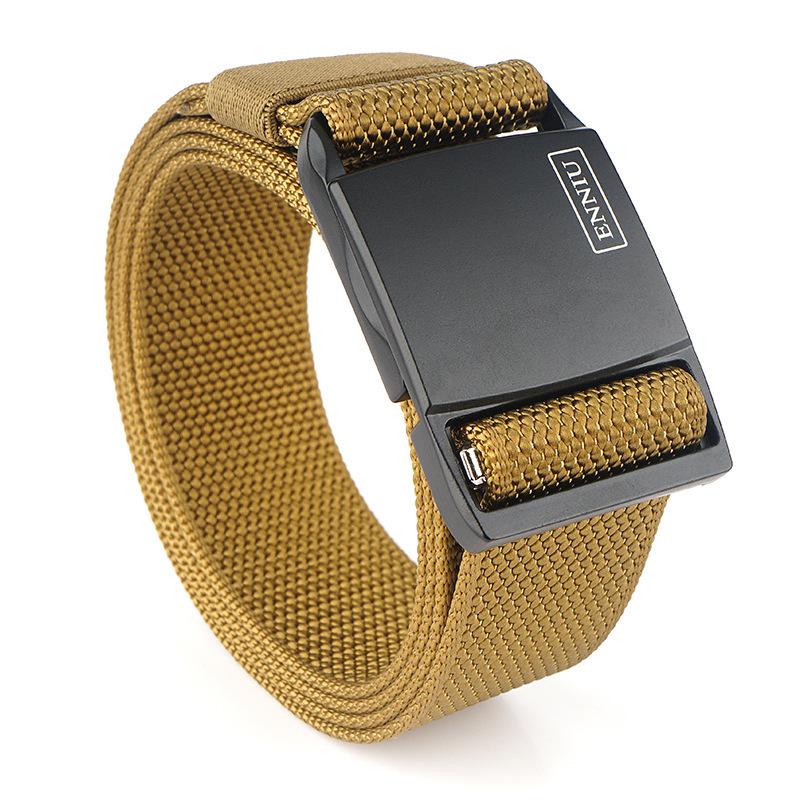 ENNIU 125cm 100D Nylon Magnetic Quick Release Buckle Heavy Duty Tactical Belt Men's Waist Belt