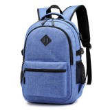 Oxford Cloth Backpack USB Charging Anti-theft Simple Casual Men's Laptop Bag