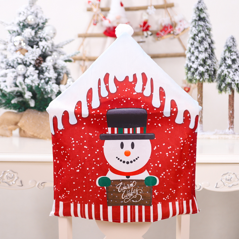 47x60cm Christmas Santa Hat Chair Covers Table Cloth Dinner Home Decorations Ornaments