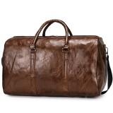 Men Women Leather Duffel Bags Waterproof Large Capacity Folding Sports Travel Bag Fitness Yoga Gym Handbag