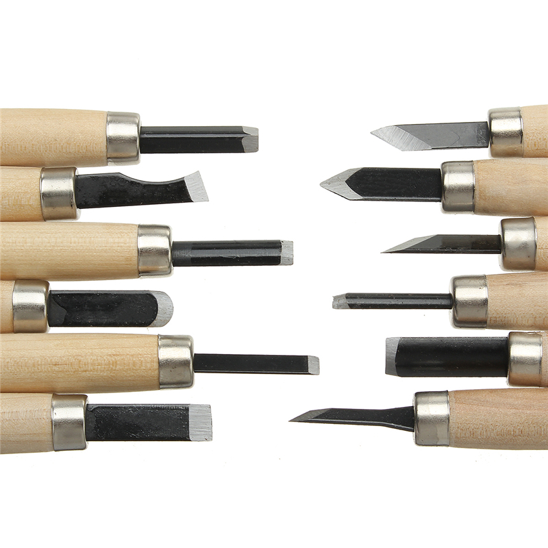 3/8/12pcs Wood Carving Chisels Cutter Craft Hand Woodworking Tools For Sculpture Engraving