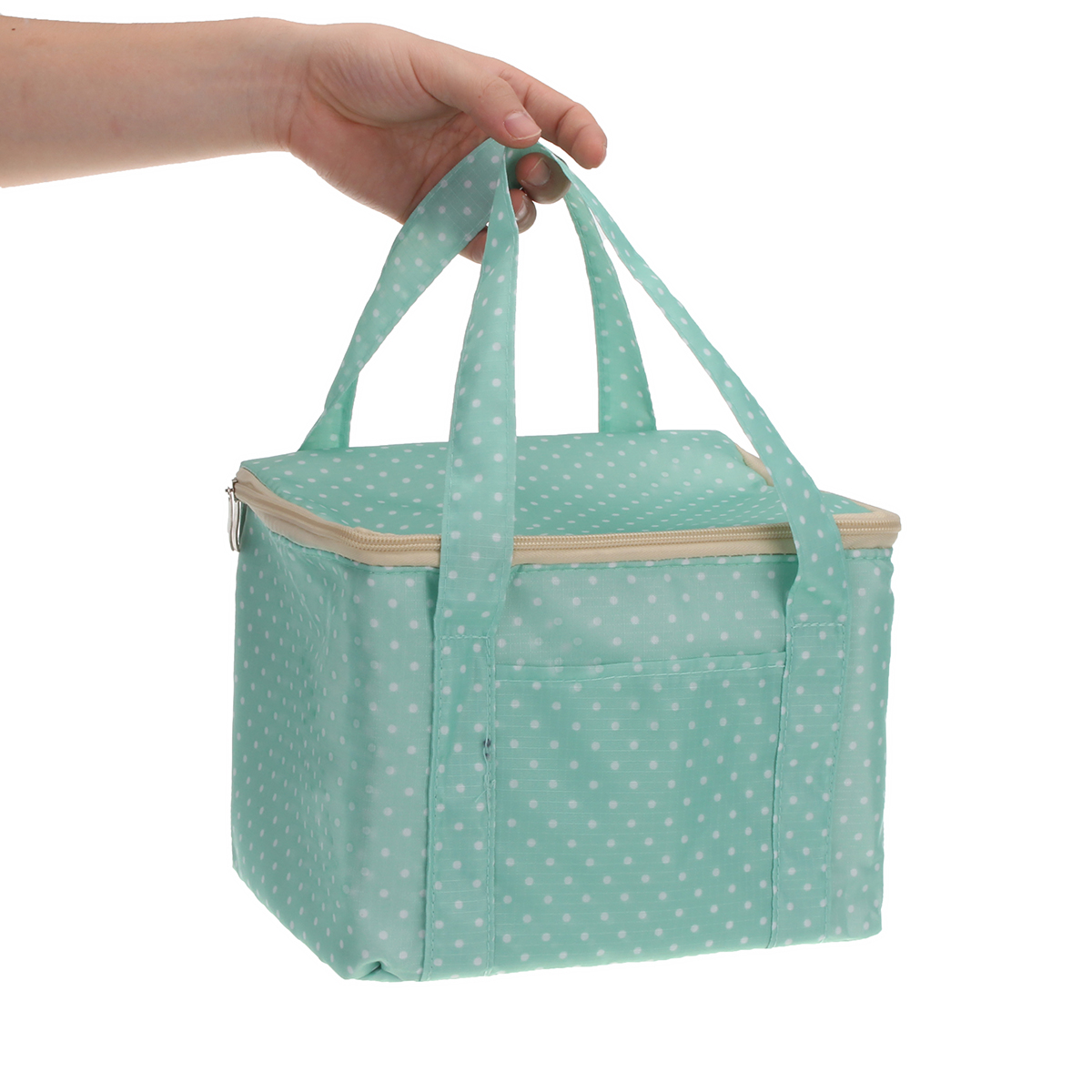 Portable Oxford Cloth Insulated Lunch Bag Square Thermal Bag Tote Outdoor Picnic Container