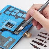Relife 8 in 1 CPU IC Glue Remover Motherboard BGA Chip Glue Cleaning Scraping Pry DIY Scrapbooking Crafts Carving Blade