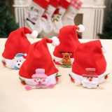 Loskii Lovely Children Baby Christmas Santa Claus Hat Santa Claus Elk Snowman Festival Party Xmas Decoration