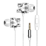 SOMIC M7 HiFi Dual Dynamic Driver Graphene Earphone 3.5mm Wired Control In-ear Heavy Bass Stereo Earbuds Headphone with Mic
