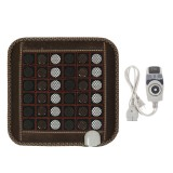 220V Infrared Heated Mat Natural Jade Tourmaline Heating Massage Cushion Pad Pain Relief for Back Shoulder Abdomen Legs Arms