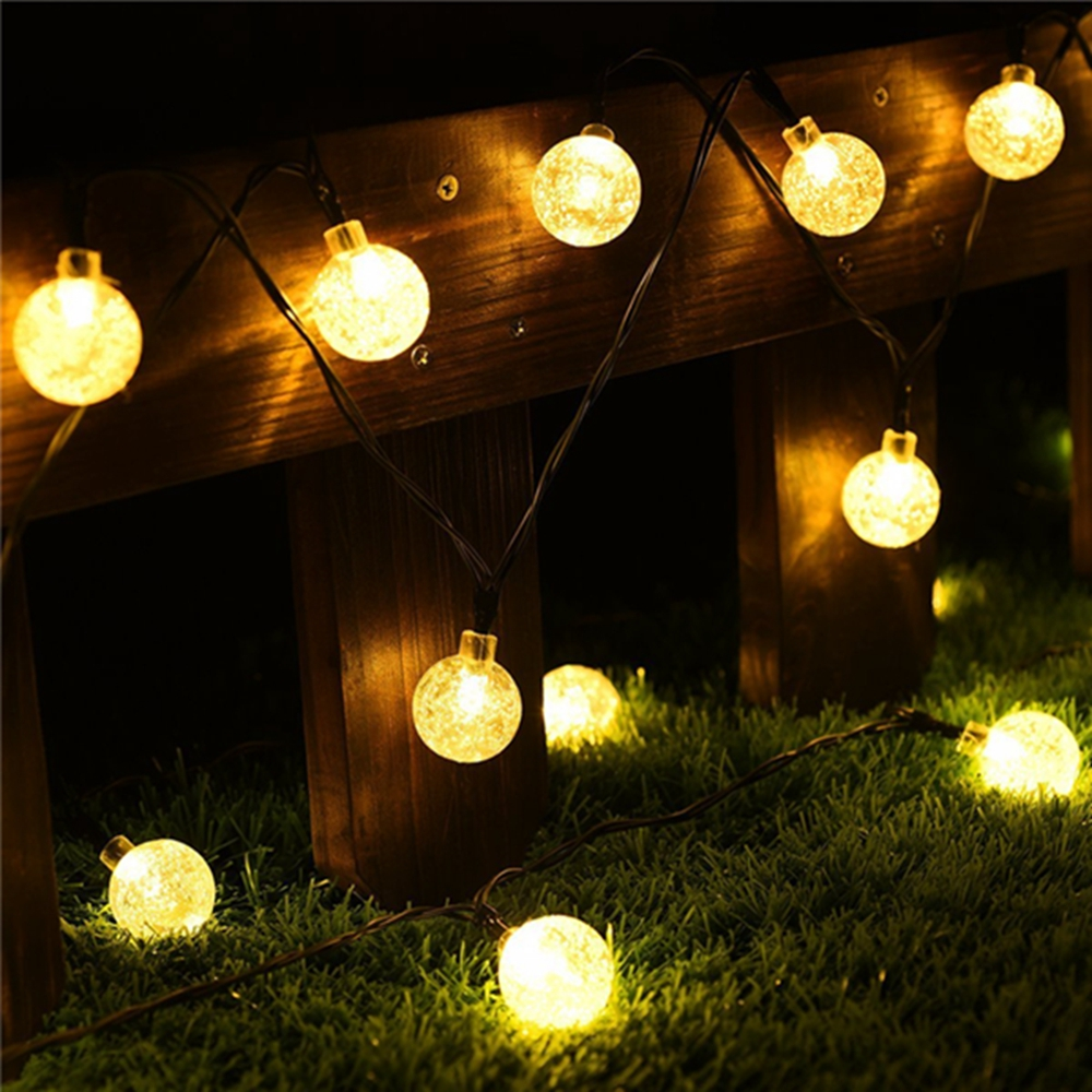 5M Outdoor Solar Powered 20 LED Bulb String Light Garden Holiday Christmas Wedding lamp