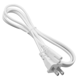 1.5m AC C8 US Plug Power Supply Adapter Cord Cable PVC White Power Adapter Connector Line for Monitor