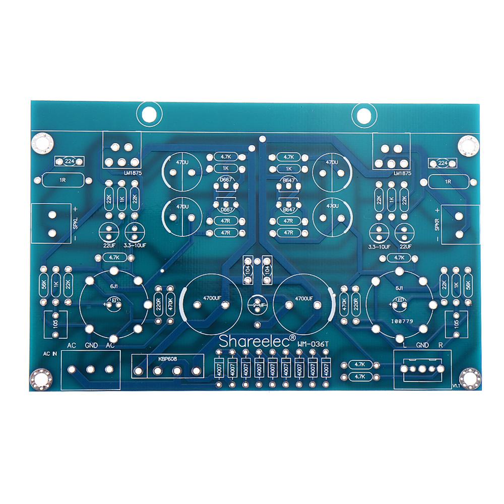 AC18V HIFI Vacuum Tube Amplifier Board Electronic Valve Amplifier 6J1+LM1875 Amplifier DIY Kit