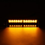 12V/24V 12LED Car Flashing Dash Warning Emergency Light Bar Recovery Strobe Amber Lamp Beacons Universal