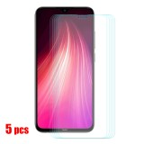 Bakeey 5pcs 9H Anti-explosion Anti-scratch Tempered Glass Screen Protector for Xiaomi Redmi Note 8