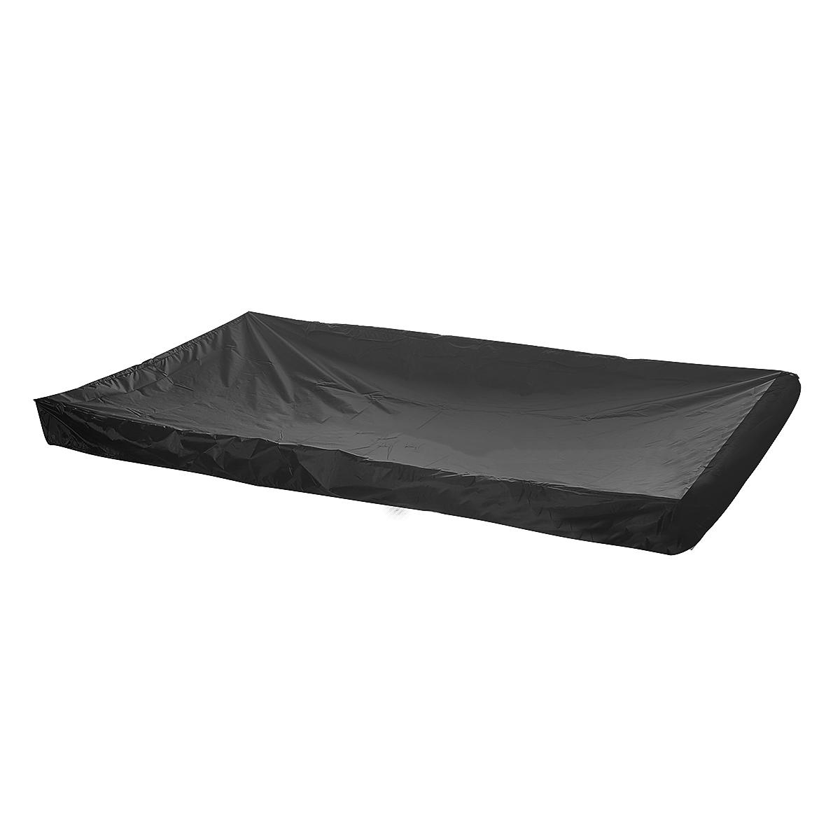 BLACK PVC Pool Snooker Billiard Table Waterproof Dust Cover for 8' ft pool table