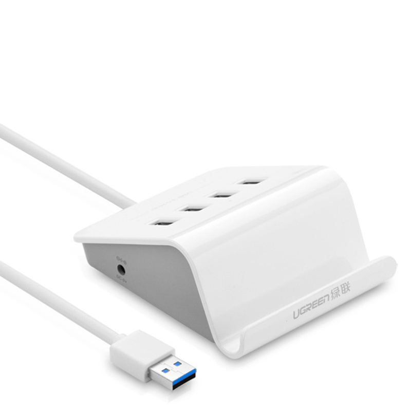 UGreen CR109 5Gbps USB3.0 Hub with 4 Ports USB Hub Extender Extension Connector for Phone / Tablet / Computer