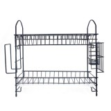 2 Layer Dish Drainer Cutlery Shelf Drying Holder Rack Drip Tray Kitchen Storage