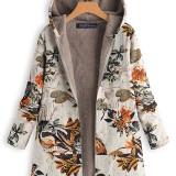 Women Long Sleeve Winter Warm Jacket Fleece Hoodies Hooded Coats