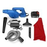 110-240v 2000W 158TV 20800mAh Wireless Blowing & Suction Dual Wind Fan Blower Blue