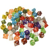 70Pcs Acrylic Polyhedral Dices Set Role Playing Game Dice Gadget for Dungeons Dragons D20 D12 D10 D8 D6 D4 Games