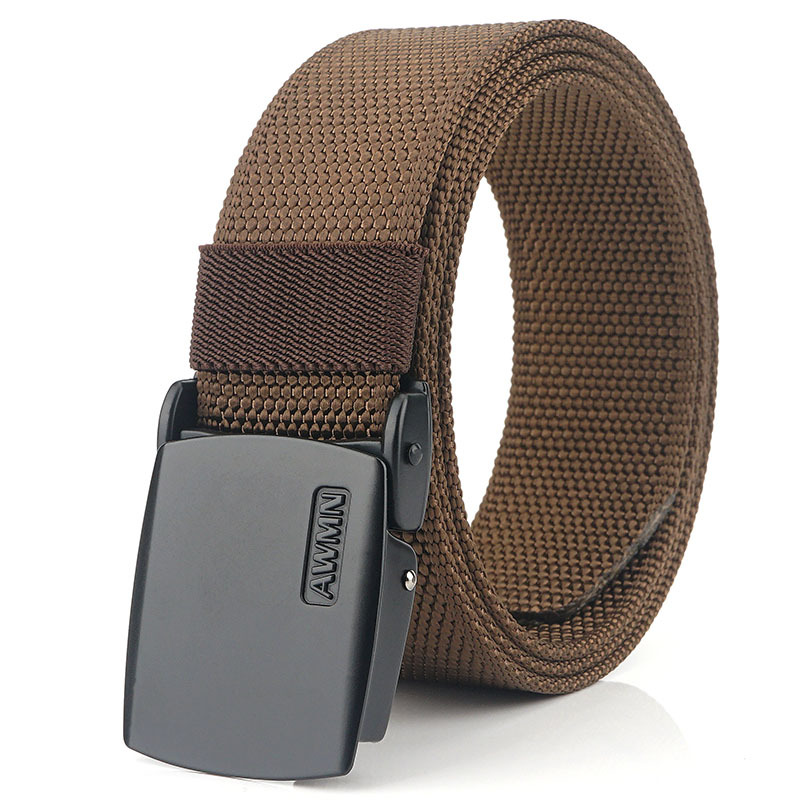 AWMN 120cm x 3.8cm Men Military Tactical Belt Adjustable Nylon Casual Belt Waist Belt With Zinc Alloy Buckle