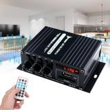 AK370 400W DC 12V / AC 220V Remote Control bluetooth HiFi Home car Stereo Amplifier Music Receiver FM Radio 20Hz-20KHz