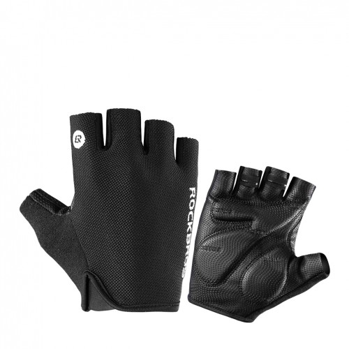 ROCKBROS Half Finger Shockproof Breathable MTB Bike Mountain Bicycle Sports Gloves Men Women Cycling Equipment
