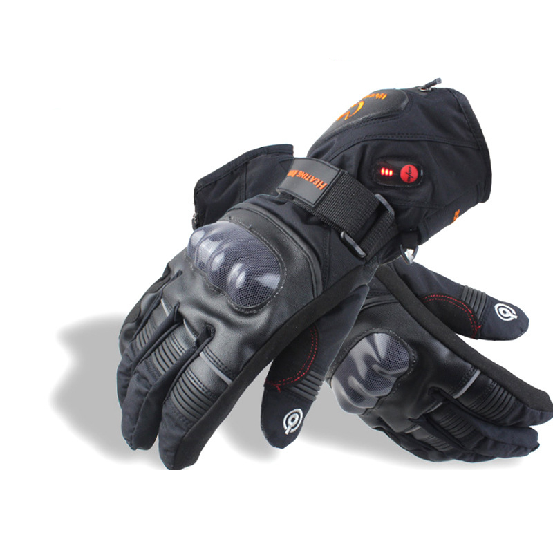 Warmspace Motorcycle Touch Screen Heated Gloves Racing Bicycle Ski Winter Waterproof Sports Electric battery Heating 3 Levels Control
