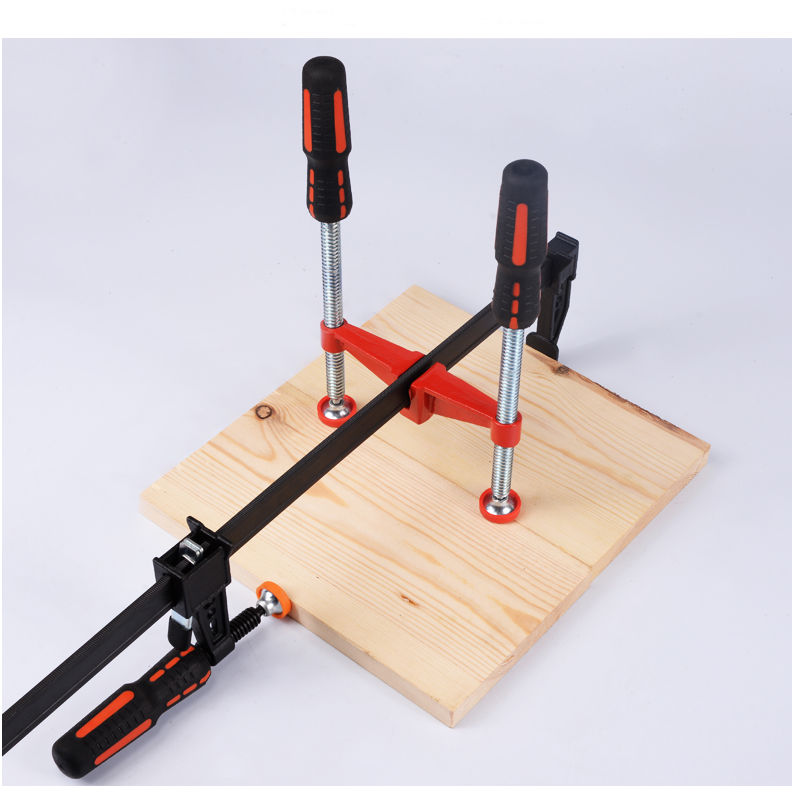 Drillpro Woodworking F Bar Clamp Attached Parallel Clamp Right Angle Clamp Bar Clamp Attachment for Woodworking