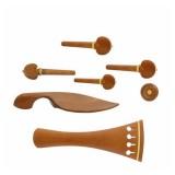1 Set VL-10 Jujube Wood Tuner Pegs Polished Ebony Fiddle Pegs Violin Parts for 4/4 Violin