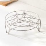 Jordan&Judy Multifunctional Metal Steaming Rack 304 Stainless Steel Home Kitchen Cooking Pot Steamer Tray Steaming Stand