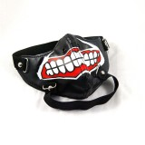 Half Face Punk Rivet Mask Cosplay Leather Halloween Masquerade Party