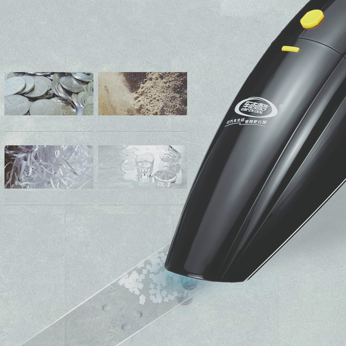 12V Vacuum Cleaner Wet Dry Handheld Cordless Portable Rechargeable 120W Car Home