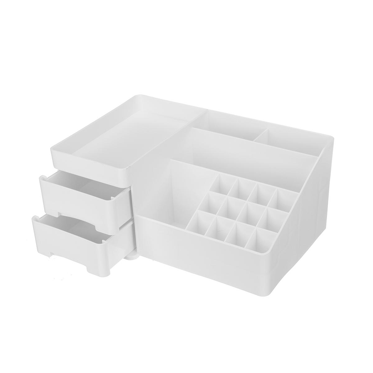 Desktop Cosmetic Storage Box Drawer Type Makeup Sundries Stationery Organizer Jewelry Display Case Box