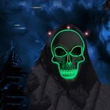 Halloween LED Light Skull Head Face Mask Carnival Night Cosplay Costume Props