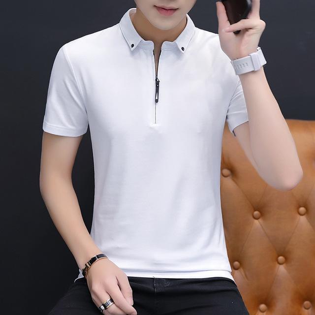 Short-sleeved T-shirts Mens Shirt Cotton Casual