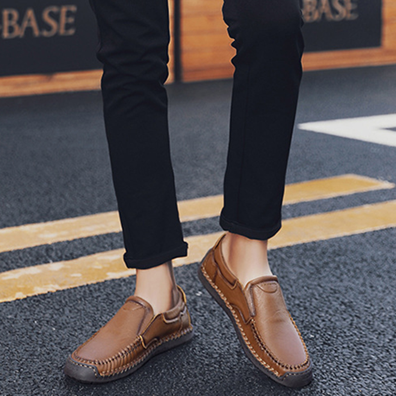 Men Hand Stitching Business Casual Soft Sole Office Oxfords