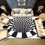 Bakeey 3D Bottomless Hole Shaggy Carpet Anti-Skid Rug Home Living Room Floor Mat RS