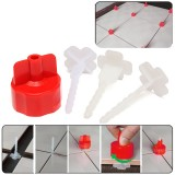 50 Pcs Flat Tile Ceramic Leveling System Kit Floor Wall Spacer Strap Tools Tile Spacers