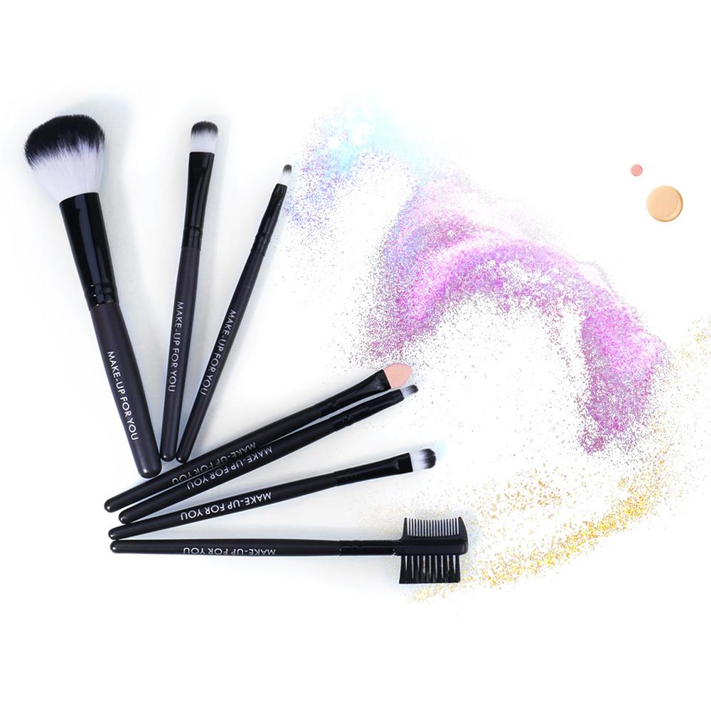 O.TWO.O 7Pcs Hot Red Makeup Brushes Set Face Eye Makeup Brush Kit Soft Hair Multifunctional Cosmetic Brush