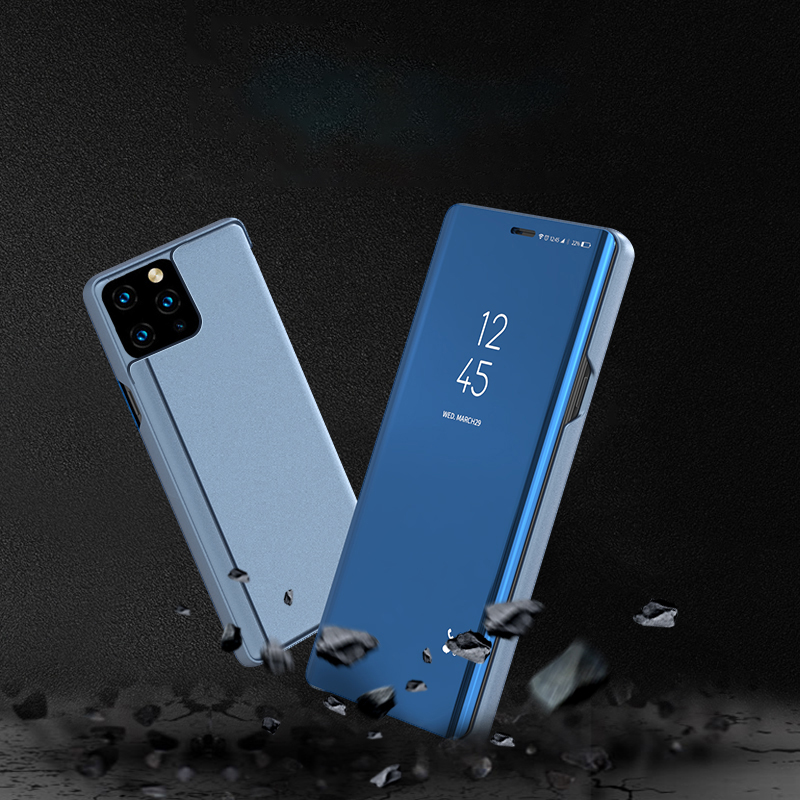 Bakeey Plating Mirror Window View Shockproof Flip Full Cover Protective Case for iPhone 11 Pro Max 6.5 inch