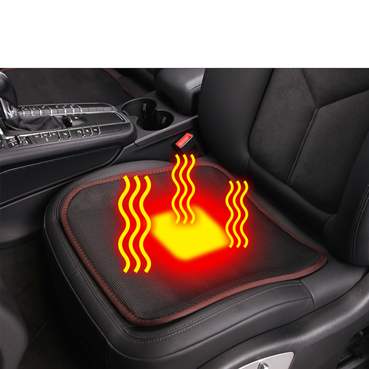 USB Heated Office Home Car Seat Cushion Cover Seat Heater Warmer Winter Cushion