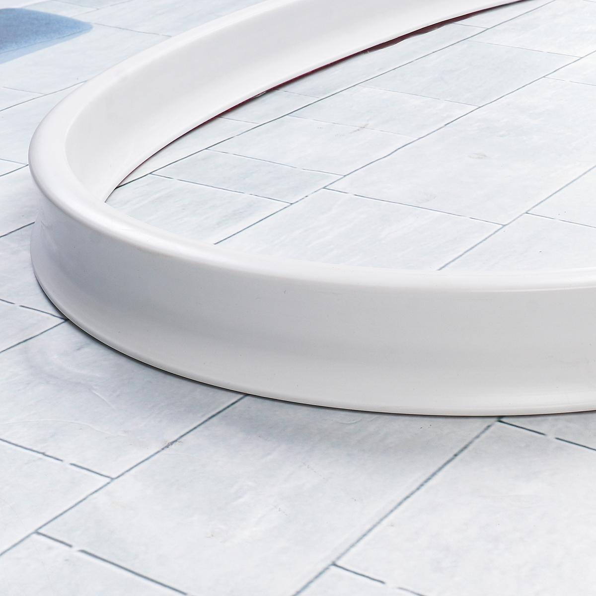 0.5M~1.5M White Flexible Water Retaining Strip Threshold Dam PVC Shower