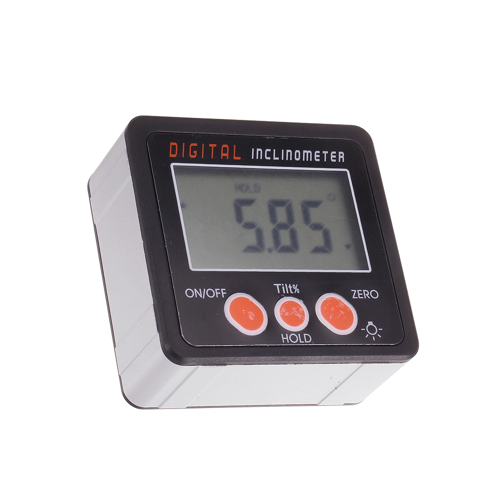 Drillpro 0.1 360 Degree Large LCD Digital Protractor Inclinometer Magnetic Electronic Angle Level Box
