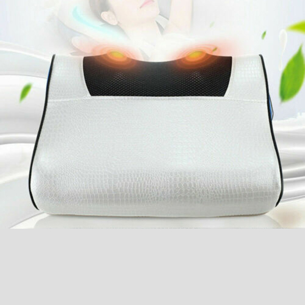 Electric Massage Pillow Infrared Heating Kneading/Shiatsu Timing Neck Shoulder Cervical Relaxing Massager