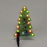 Assembled Christmas Tree 16 LED Color Light Electronic PCB Decoration Tree Children Gift Ordinary Version Power Adapter