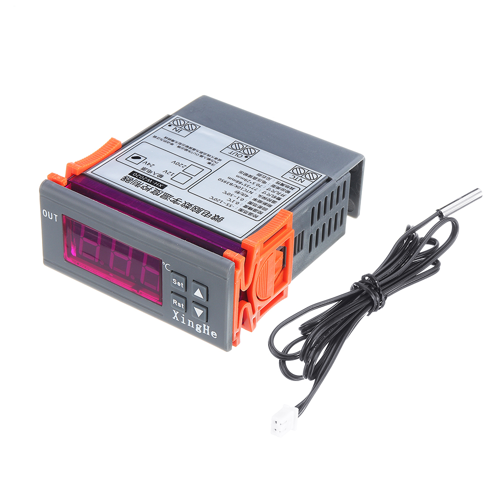 MH-2000-40~120C Temperature Controller With Cable Electronic Digital Display