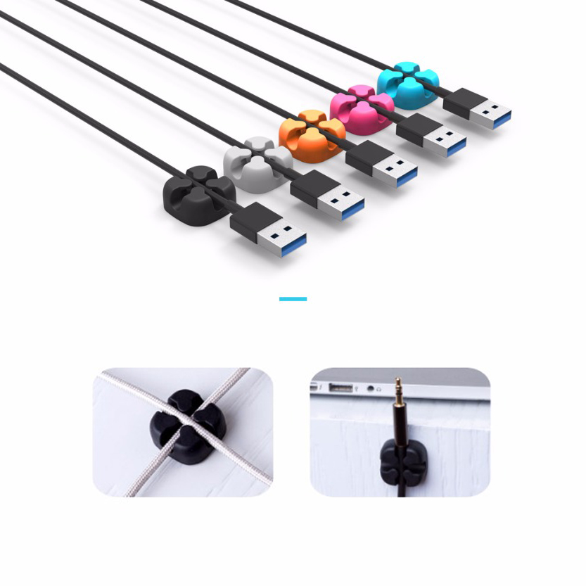 ORICO Crossed-Channel Earphone USB Cable Cord Winder Wrap Desktop Cable Organizer Wire Management Holder