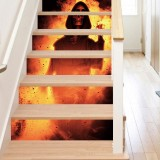 Miico LT013 Halloween Sticker Stair Sticker Novetly Wall Sticker Removable Stickers