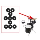 10 Packs IRIN MD139 Drum Cymbal Felt Pad Protection Round Separator Drum Mat for Drum Bracts