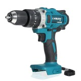 18V 3 In 1 Cordless Impact Drill 2 Speed Rechargable Electric Screwdriver Drill Li-Ion Battery Adapted to Makita Battery