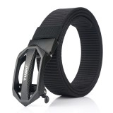 TUSHI 125cm x 3.4cm Zinc Alloy Buckle Punch Free Nylon Belts Men Tactical Belt Casual Belts